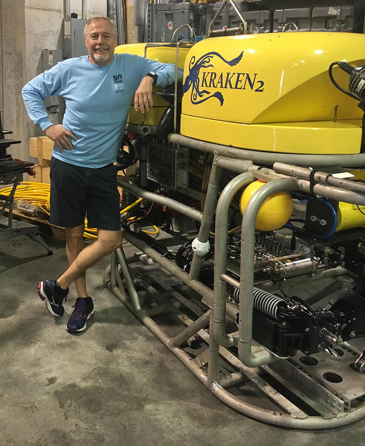 Ivar Babb with ROV